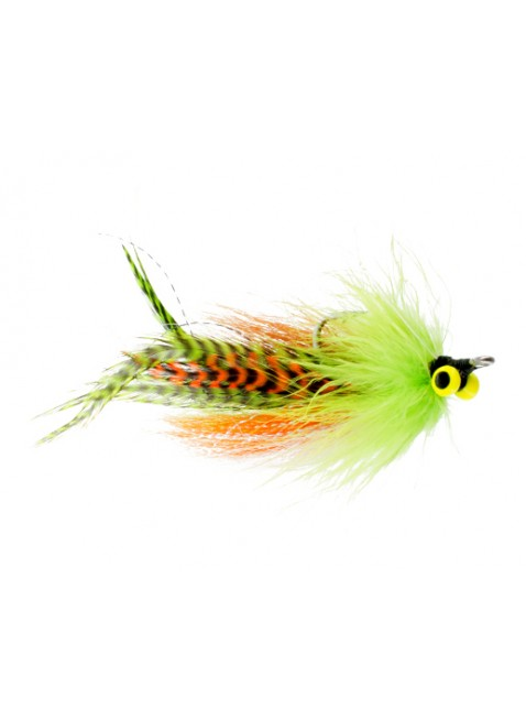 Bullethead Deep Water Baitfish : Chartreuse and Orange