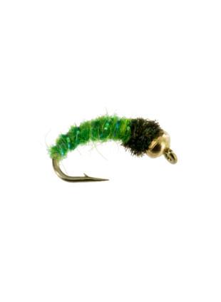 Beadhead Caddis : Bright Green