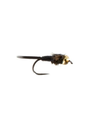 Beadhead Copper John : Black (Barbless)