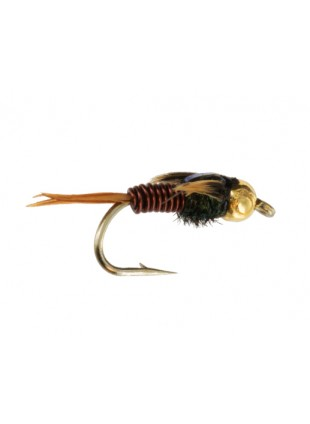 Beadhead Copper John : Brown