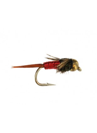 Beadhead Tungsten Copper John : Red