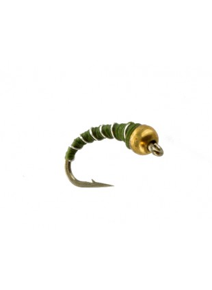 Beadhead Zebra Midge : Olive