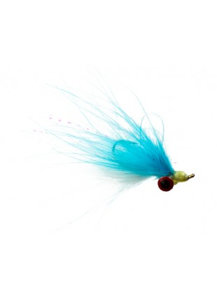 Clouser (Marabou) : Blue and White