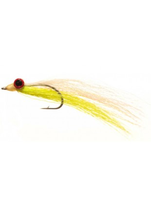 Clouser : Chartreuse + White