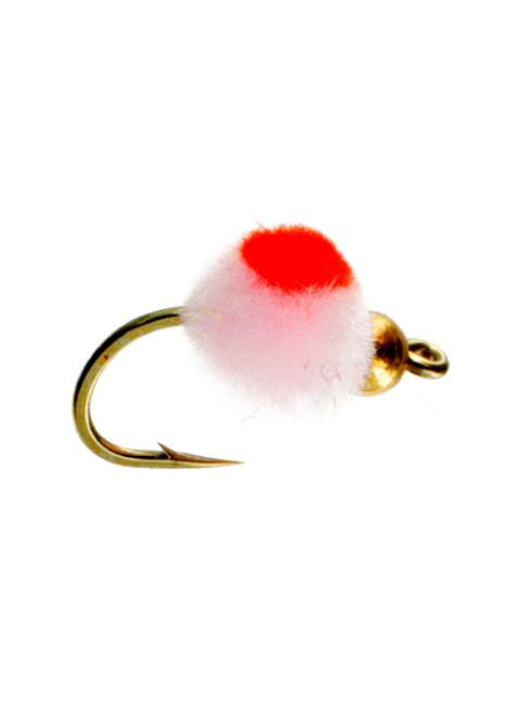 Beadhead Glo Bug : Cotton Candy + Flame