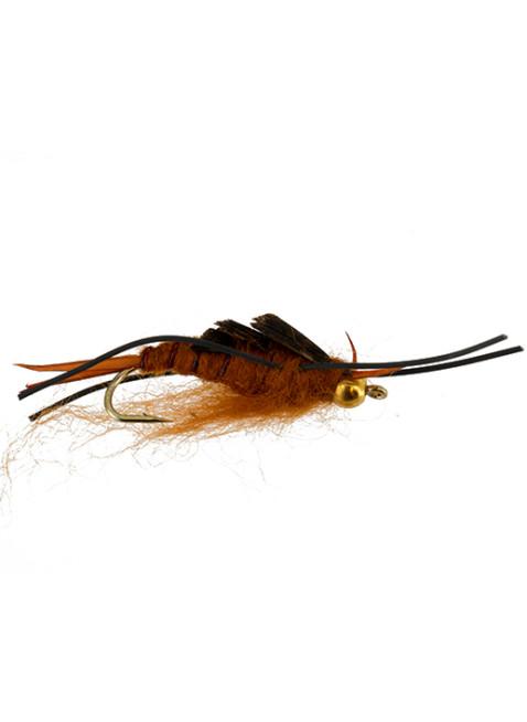 Beadhead Kaufmann Rubberleg Stonefly : Brown