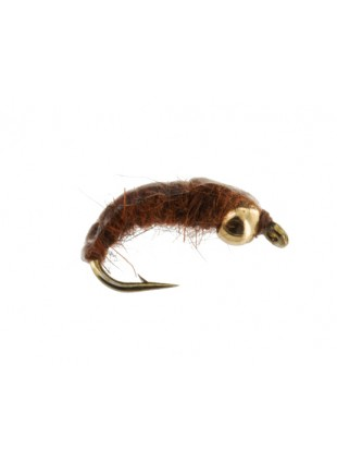 Beadhead Bottom Bouncing Caddis : Brown