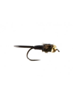 Beadhead Copper John : Black (Barbless)