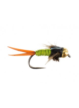 Beadhead Copper John : Chartreuse (Barbless)