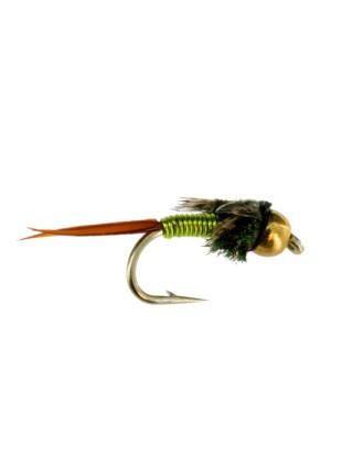 Beadhead Copper John : Chartreuse