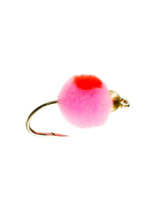 Beadhead Glo Bug : Baby Pink + Flame