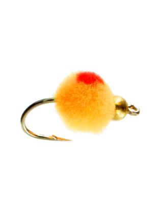 Beadhead Glo Bug : Light Roe + Flame