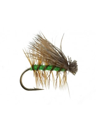 Elk Hair Caddis : Bright Green