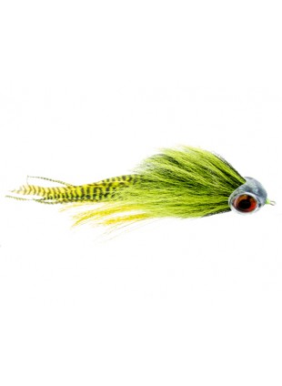 Musky Mayhem : Chartreuse and Black (Articulated Shank)